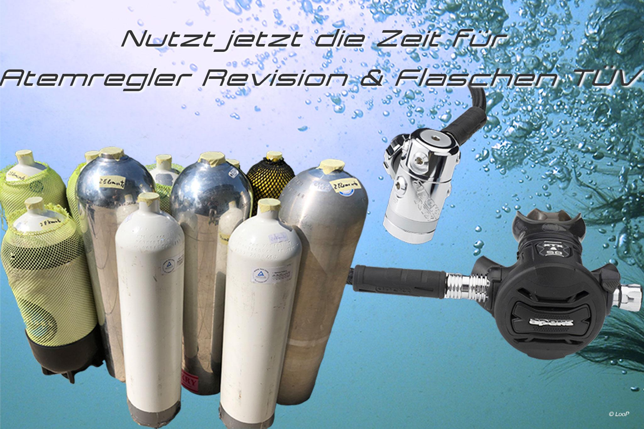 Atemregler Revision und/oder Flaschen TÜV
