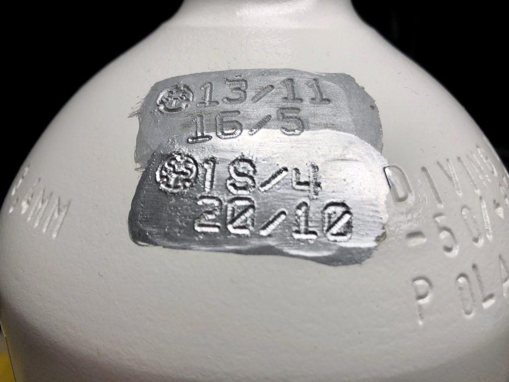 Tüv Stempel Tauchflasche
